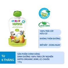 [BESTSELLER] Thức ăn dặm Dinh dưỡng 100% trái cây nghiền hữu cơ HiPPiS Organic (Kiwi, Lê, Chuối) 100g