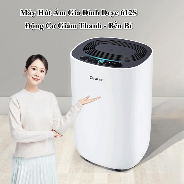 Máy hút ẩm gia đình hiện đại Deye DY612S công nghệ mới độ ồn siêu thấp, thanh lọc ion âm
