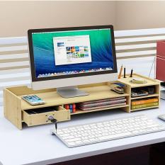 }Kệ để màn hình máy tính để bàn có ngăn kéo nhỏ