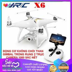 Flycam JJRC X6 thế hệ mới Động cơ không chổi than, Gimbal trống rung 2 trục, camera 1080P, thời gian bay 25 Phút