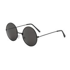 Mắt kính tròn nam nữ, Kính mát râm đen thời trang K358