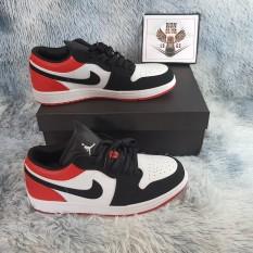 [Ảnh thật] giầy thể thao Air Jordan 1 low cổ thấp đỏ trắng thời trang