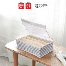 Hộp đựng đồ lót 4 ngăn Miniso (Xám) – Hàng chính hãng