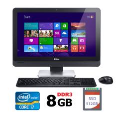 Máy tính All-in-One Dell Optiplex 9010 intel i7-3770, Ram 8GB, SSD 512 GB, Màn 23″ Full HD kèm phím chuột không dây, tích hợp webcam và loa, máy tính liền khối,cây máy tính liền màn