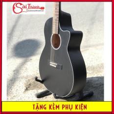 Đàn guitar Acoustic GV650124 kèm quà tặng: Bào đựng đàn + Giáo trình học đàn + Pick gãy + Dây đàn sơ cua + Bảo hành 1 năm