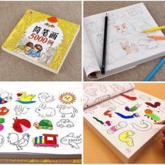 Sách tập vẽ – Sách Tập tô màu loại Dày 360 trang – 5000 hình vẽ + Tặng 12 bút màu siêu dễ thương cho bé thỏa sức sáng tạo nghệ thuật