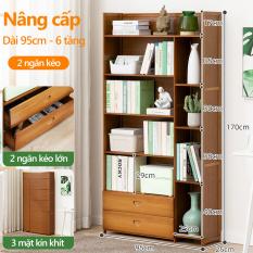 tủ sách tủ chứa đồ gỗ tre kiểu dáng đơn giản, tủ sách cho phòng học, phòng trọ sinh viên, tủ chứa đồ đa chức năng có ngăn kéo
