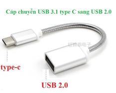 Cáp OTG USB Type C sang USB 2.0 giá rẻ