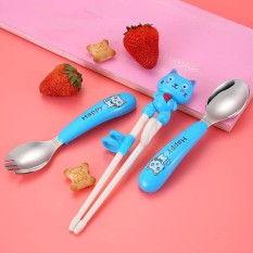 Bộ đũa, thìa, dĩa tập ăn cho bé ngộ nghĩnh, kích thích bé tự giác ăn