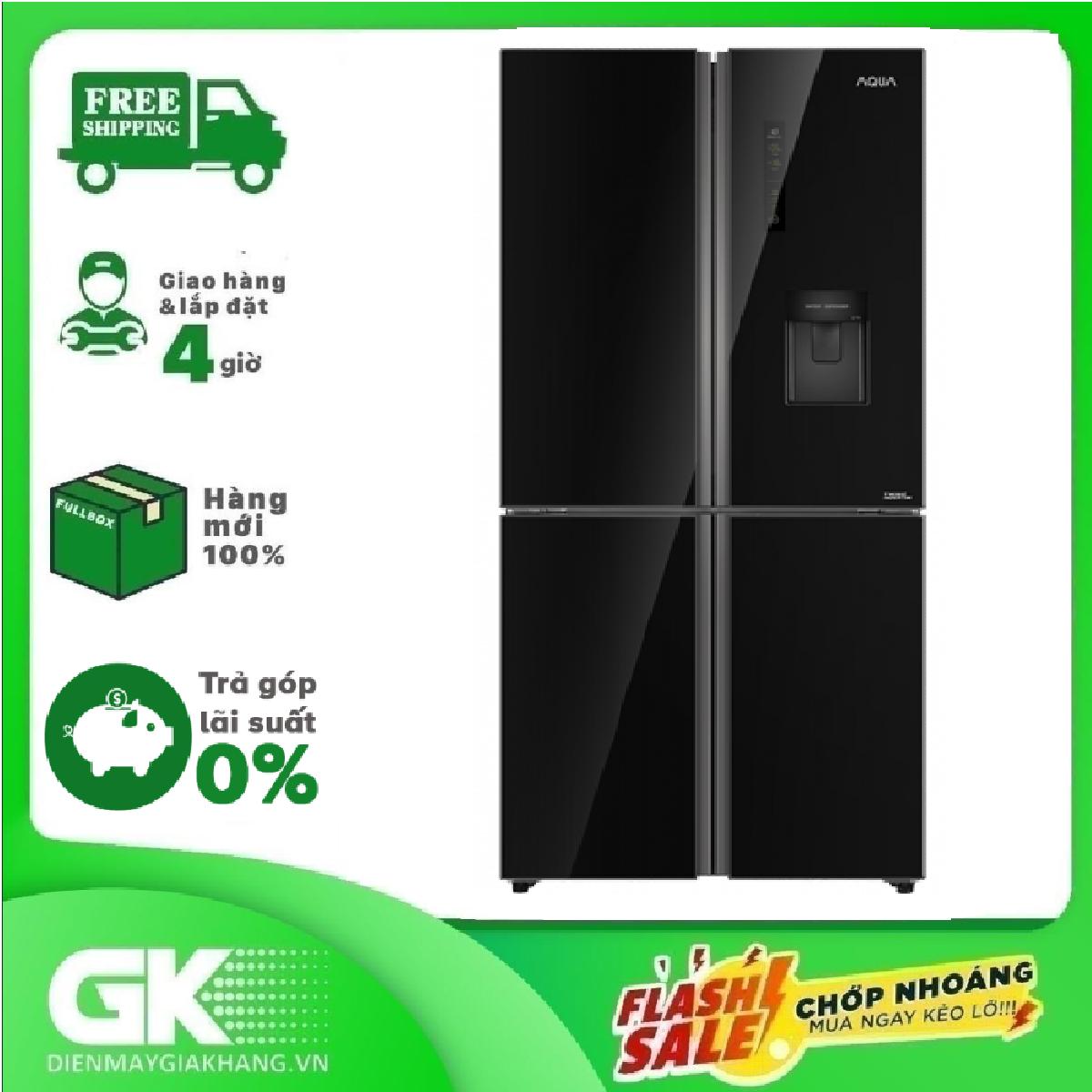 TRẢ GÓP 0% – Tủ Lạnh AQUA Inverter 511 Lít AQR-IGW525EM(GB)- Bảo hành 2 năm
