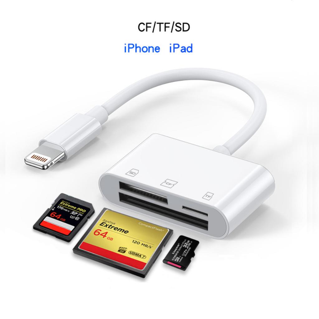 Đầu đọc thẻ CF/SD/MicroSD cho Lightning