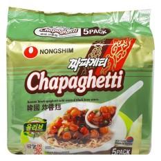 Lốc 5 Gói Mì tương đen (spaghetti) Chapaghetti Nongshim (140g / gói)