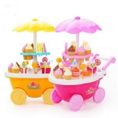 Bộ đồ chơi xe đẩy bán kem 16 món cho bé , XE ĐẨY BÁN KEM ĐỒ CHƠI 16 MÓN
