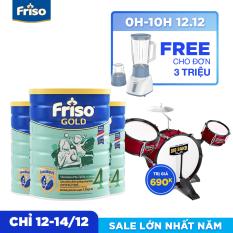 [Freeship toàn quốc] Bộ 3 lon sữa bột Friso Gold 4 1.5kg + Tặng Bộ trống Trị giá 690K (Màu ngẫu nhiên)