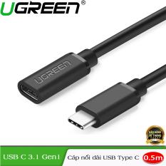 Cáp nối dài 0,5m Ugreen 40574 chuẩn USB Type C chính hãng