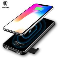 Sạc không dây siêu mỏng siêu đẹp thông minh chuẩn Qi kiêm pin dự phòng 8000 mAh cho Iphone 8, iphone X,Samsung Galaxy S9, Note8