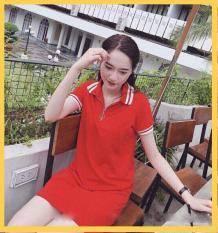 Đầm suông cổ trụ dây kéo như hình có size từ 40-65kg (Kèm ảnh thật khách tự chụp)