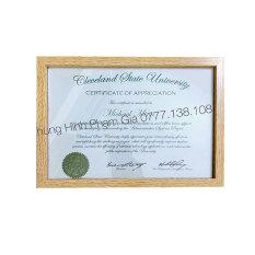 Khung bằng khen vân gỗ giá rẻ tại HCM size A3, A4, A5, chuyên sỉ khung bằng khen giá tốt – khung hình phạm gia PGBK21