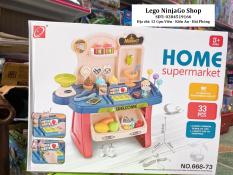 Bộ đồ chơi đồ hàng kèm quầy thu ngân mã 668-73