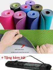 Thảm tập Yoga TPE 2 lớp ECOFRIENDLY 6mm có túi đựng – Được chọn màu
