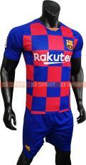 Bộ Quần áo Bóng đá CLB Barcelona – Thun Lạnh cao cấp – Ngắn Tay caro – KJ SPORT