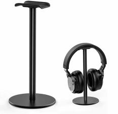 Giá treo tai nghe để bàn nhỏ gọn, móc treo Head Phone, Thanh treo tai nghe nhôm đen, chân đỡ tai nghe cao cấp, Headset Stand.
