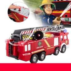 Toys For Kids Fire Engine Truck Toy With Light Sound Fire Safety Cars Boy Gift