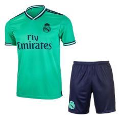 [RẺ VÔ ĐỊCH] Bộ Quần áo Bóng Đá CLB Real Madrid (Xanh ngọc) Away Kit 2019/20 – Vải thun lạnh xịn Mặc mát