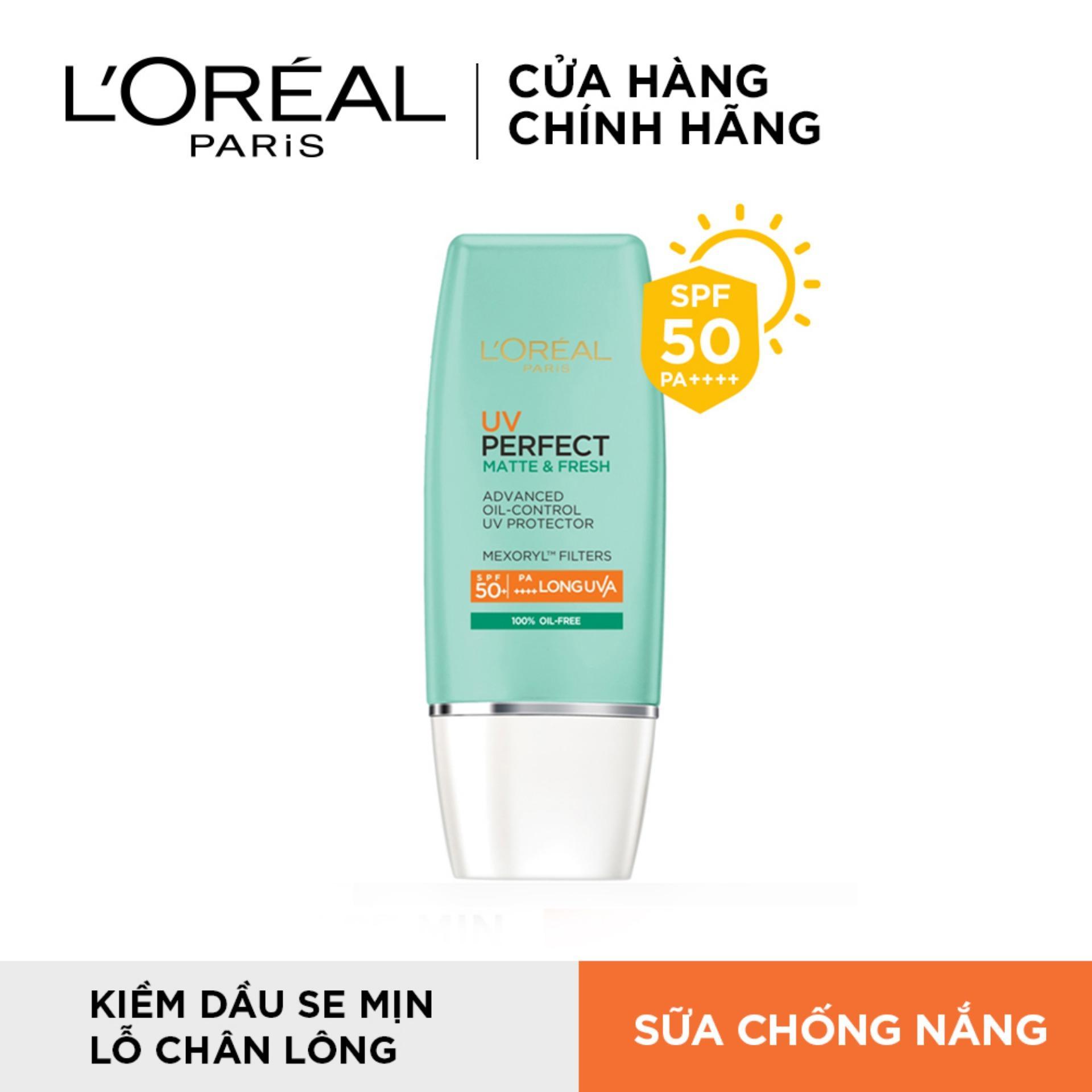 Kem chống nắng bảo vệ toàn diện se mịn lỗ chân lông & chống ô nhiễm L'Oreal Paris UV Perfect...