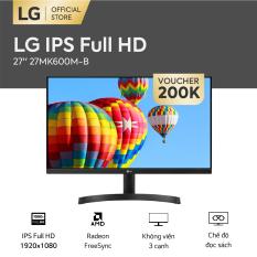 [FREESHIP – VOUCHER 200K – TRẢ GÓP 0%] Màn hình máy tính LG IPS Full HD Cinema 27 inches 1920 x 1080 l Radeon FreeSync™ l Không viền 3 cạnh l 27MK600M-B l HÀNG CHÍNH HÃNG
