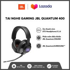 [TẶNG ÁO THUN VÀ NÓN QUANTUM] Tai nghe Gaming JBL Quantum 400 l Âm thanh vòm DTS Headphone:X 2.0 l Công nghệ QuantumSOUND Signature l Phần mềm điều khiển JBL QuantumENGINE l HÀNG CHÍNH HÃNG