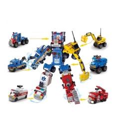 Đồ chơi lego cho trẻ em 6 tuổi lắp ráp xếp hình Robot biến hình xe Lele brother 8531 (1Hộp mã ngẫu nhiên)