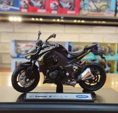 Xe mô hình môtô siêu xe Kawasaki Z1000 tỉ lệ 1:18 hãng Welly