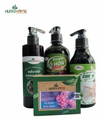 (Khuyến mại đặc biệt khai chương shop) bộ combo 4 sản phẩm dầu gội thảo dược, sữa tắm gội cho bé,nước tẩy rửa enzym bồ hòn, xà bông thiên nhên