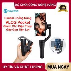 [ BẢO HÀNH 12 THÁNG ] Tay cầm trống rung Feiyutech VLOG Pocket – Gimbal chống rung cho điện thoại di động, gấp gọn tiện lợi, Pin dùng liên tục lên tới 8 giờ.