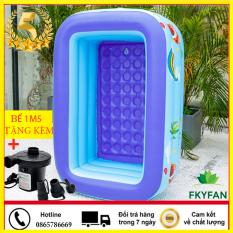 [Tặng kèm bơm điện + keo dán miếng vá ] Bể bơi cho bé loại 1m5 bể bơi trẻ em Hồ Bơi Trong Nhà, Mua Ngay Bể Phao Bơi gia đình 150Cmx110Cmx50Cm 3 Tầng Cao Cấp 2020