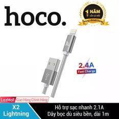 Cáp sạc bọc dù siêu bền Lightning HOCO X2 cho iPhone/iPad sạc nhanh dài 1m iPhone 7Plus, iPhone XS Max