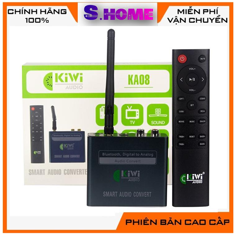 Bộ DAC Kiwi KA08 chuyển quang kiêm giải mã 24 bit loại cao cấp – Có kết nối bluetooth , điều khiển – chính hãng Kiwi