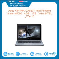 Asus X441MA GA023T Intel Pentium Silver N5000 4GB 1TB VGA INTEL Win 10 Hàng mới 100%, bảo hành chính hãng