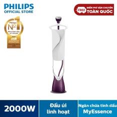Bàn Ủi Hơi Nước Đứng Philips GC558 – Trắng Tím -2000W- 5 chế độ hơi phun – Ngăn chứa tinh dầu MyEssence – Hàng phân phối chính hãng