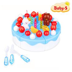 Bộ đồ chơi bánh kem sinh nhật cao cấp 39 chi tiết bằng nhựa PE an toàn cho bé yêu thỏa sức làm bánh kem cùng bạn bè và gia đình Baby-S – SDC020