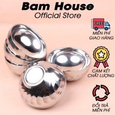 Bộ 5 chén inox Bam House 2 lớp cách nhiệt 12cm cao cấp C01 – Bam House