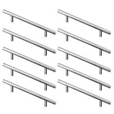 10 PCS Stainless Steel T Bar Kitchen Cabinet Handles Cupboard Closet Furniture Hardware Drawer Pull Knob 15cm Length – intl