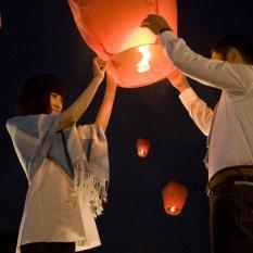 10 cái/lô Trung Quốc Lửa Bầu Trời Bay Đèn Nến Đảng Chúc Lồng Đèn (màu sắc ngẫu nhiên)-quốc tế