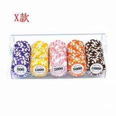 100 yards of Dezhou poker 0235 clay abrasive chips acrylic suit – intl
