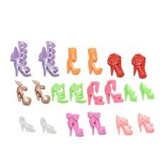 10 đôi Giày Thời Trang cho 11 Barbies Búp Bê Cố Định Phong Cách Màu Sắc Ngẫu Nhiên-quốc tế