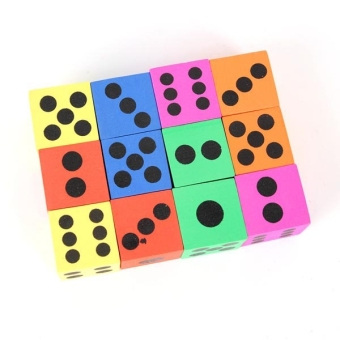 12pcs Children Big Foam Playing Dice (Random Color) - Intl