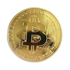 2X (Hai) Bộ Sưu Tập Đồng Xu Bitcoin Mạ Vàng BTC Coin Làm Quà Tặng – Quốc Tế