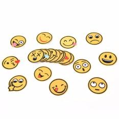 20 X Emoji Cảm Xúc Thêu Sắt Trên Táo Miếng Dán Miếng Dán May Vá Thủ Công Sửa Chữa-quốc tế