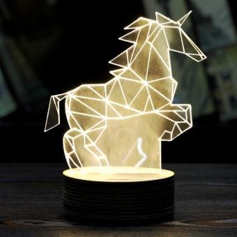 3D stereo vision lamp sky horse LED night light decoration - intl